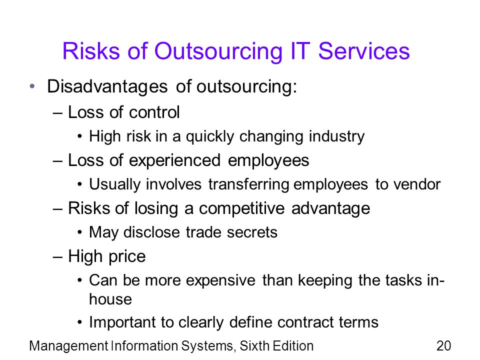 Risks of Outsourcing IT Services