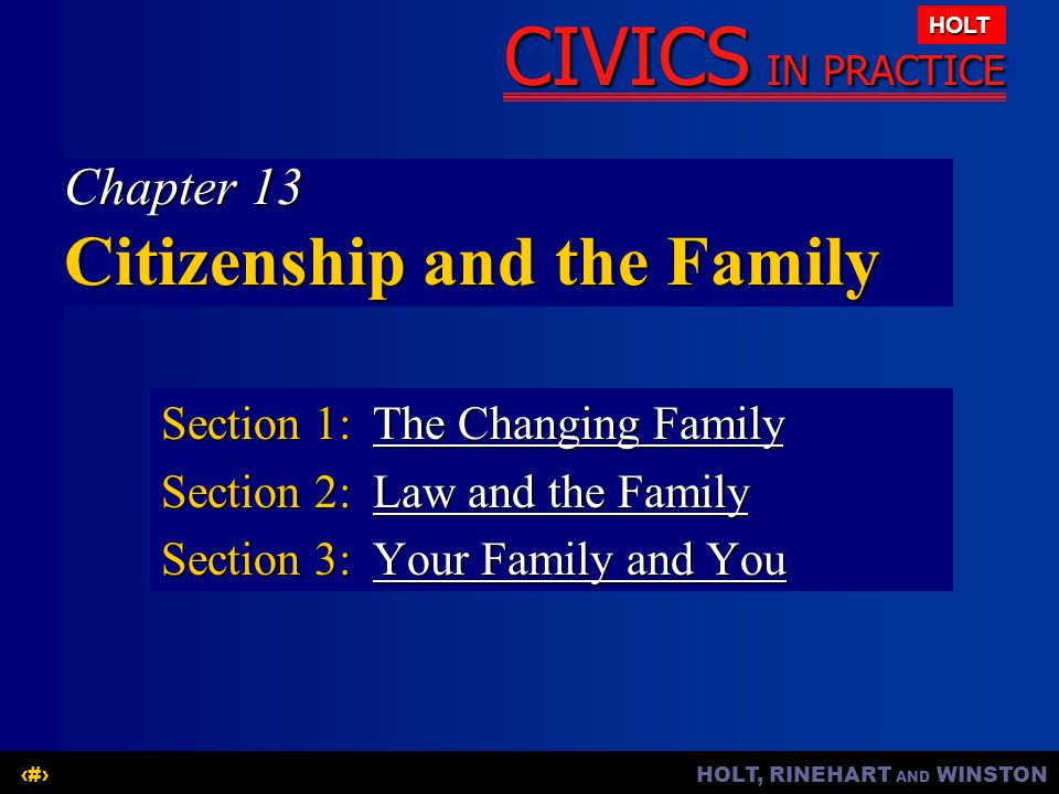 Chapter 13 Citizenship and the Family