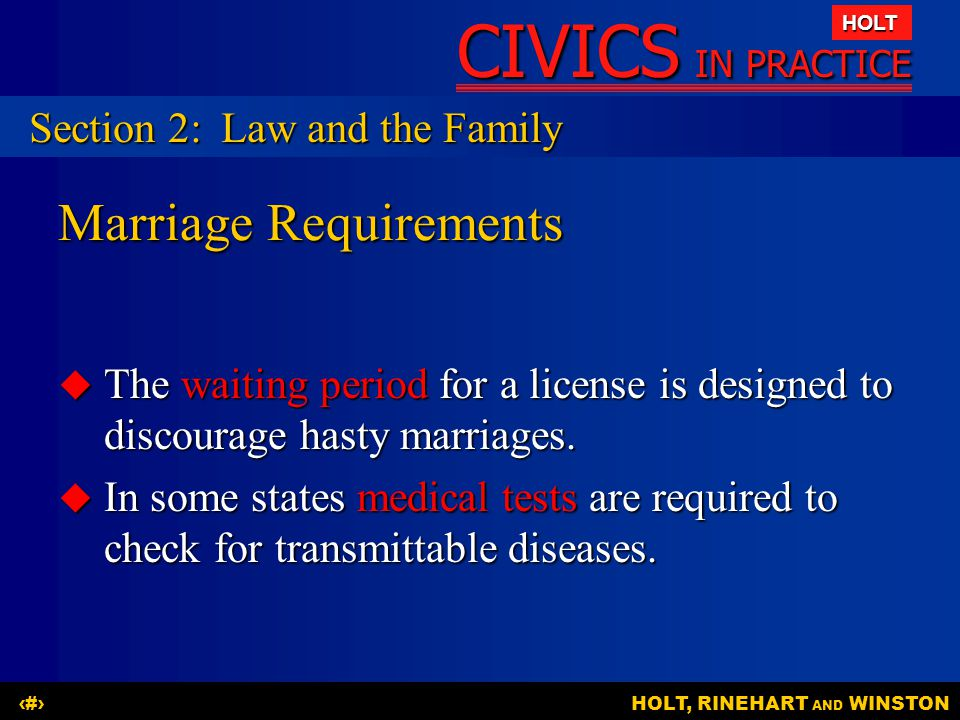 Marriage Requirements