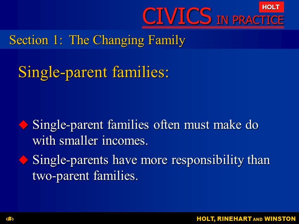 Single-parent families: