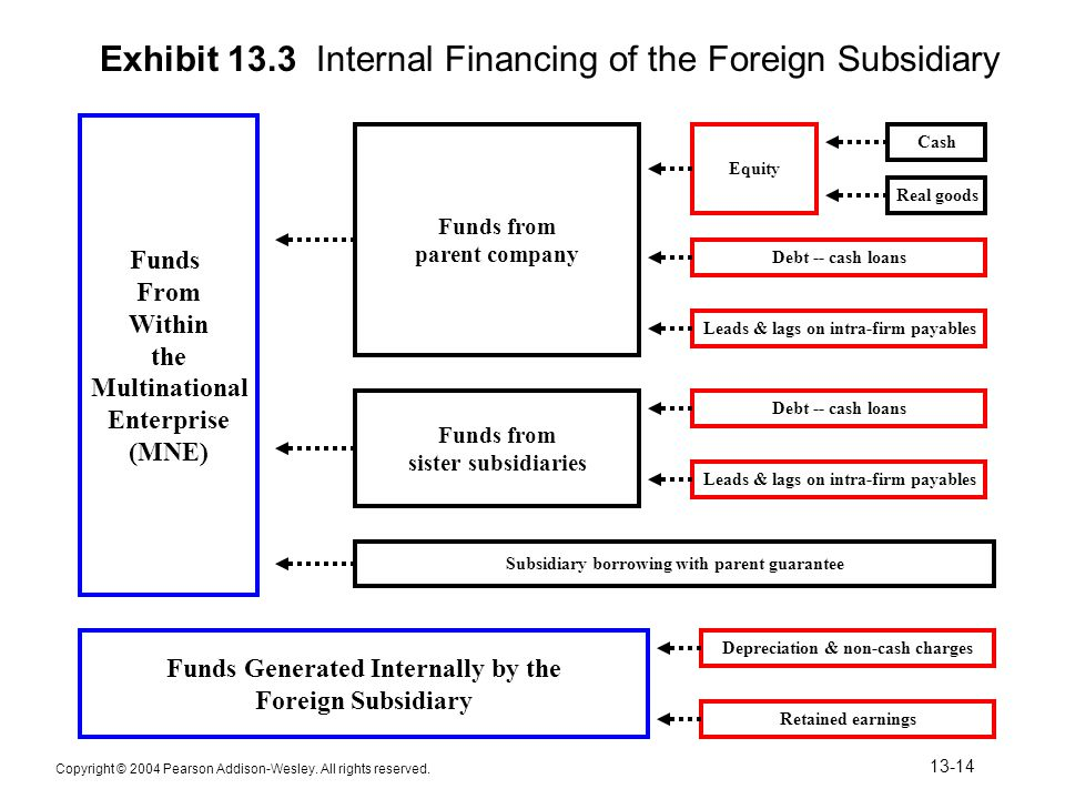 Exhibit 13.3 Internal Financing of the Foreign Subsidiary