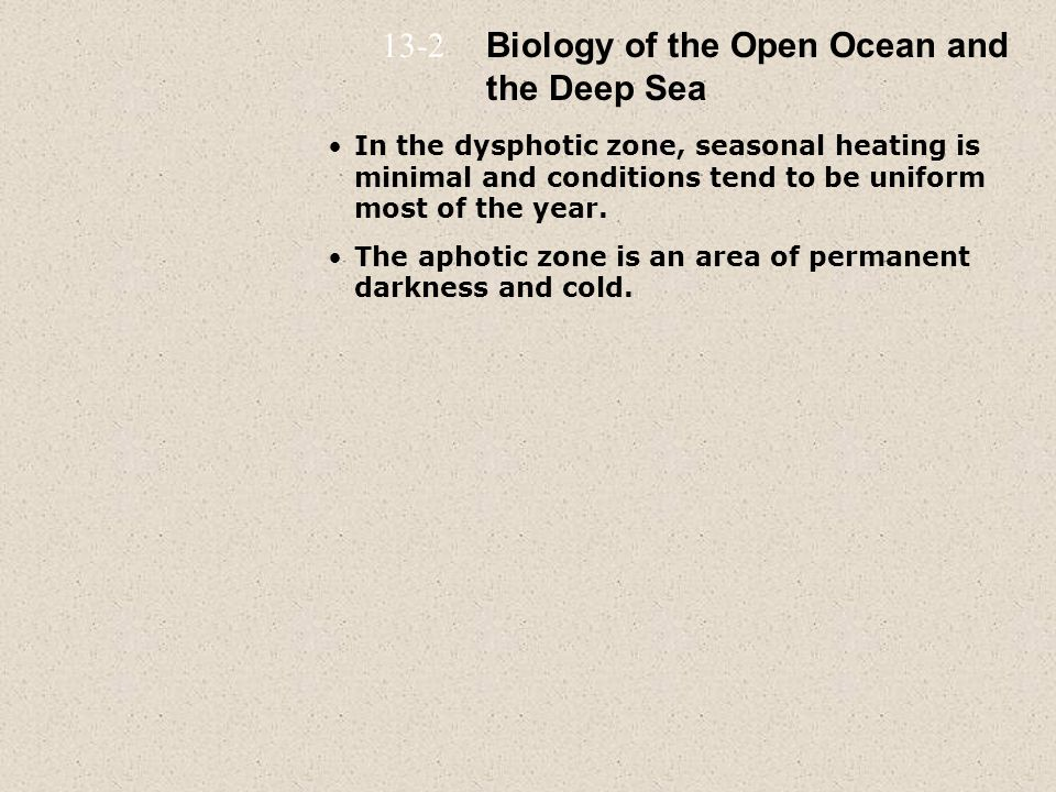 Biology of the Open Ocean and the Deep Sea