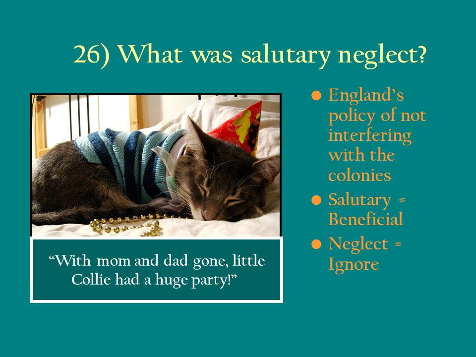 26) What was salutary neglect