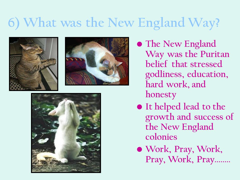 6) What was the New England Way
