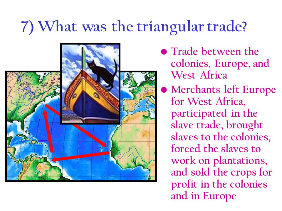 7) What was the triangular trade