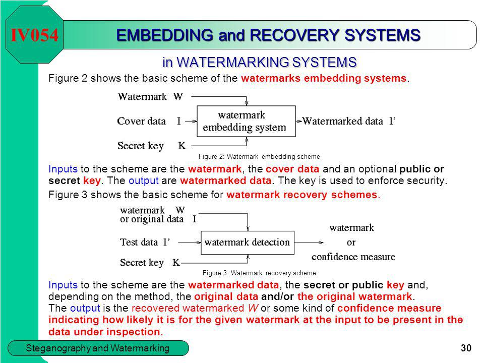 EMBEDDING and RECOVERY SYSTEMS
