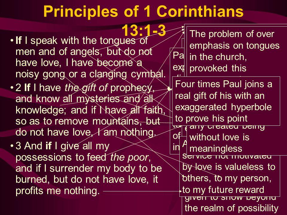 Principles of 1 Corinthians 13:1-3