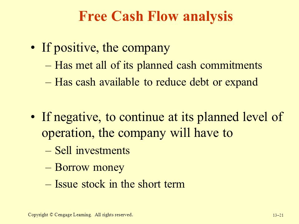 Free Cash Flow analysis