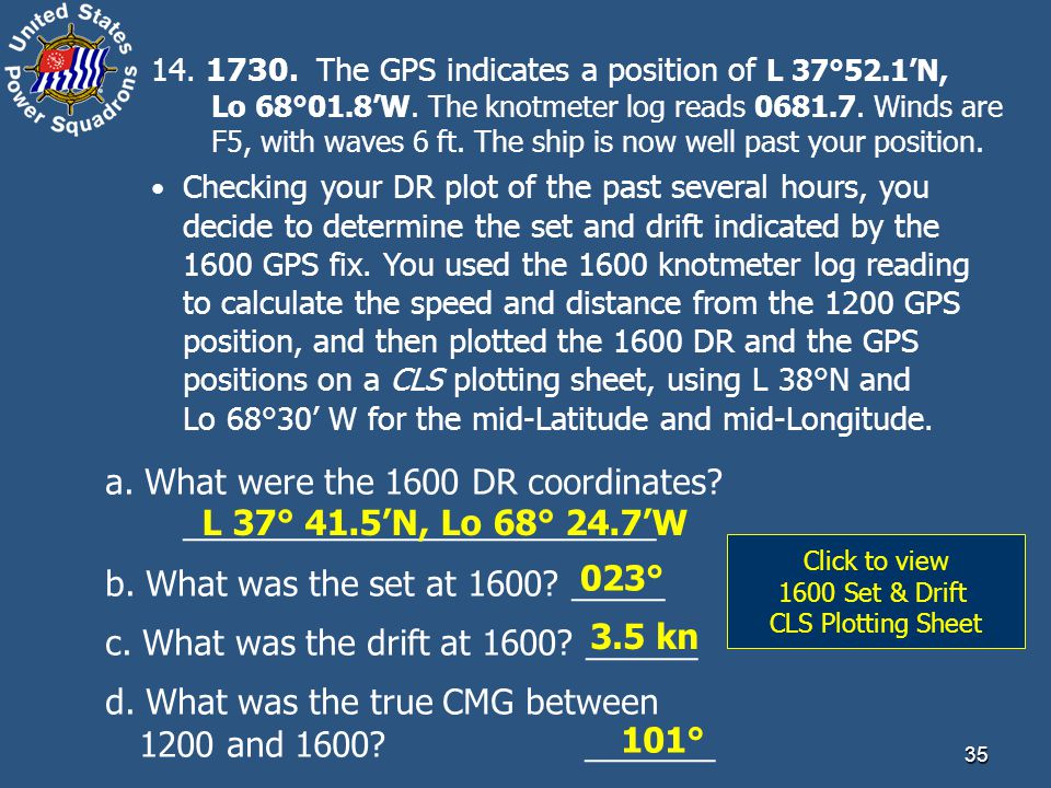 Click to view 1600 Set & Drift CLS Plotting Sheet