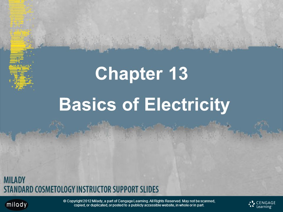 Chapter 13 Basics of Electricity
