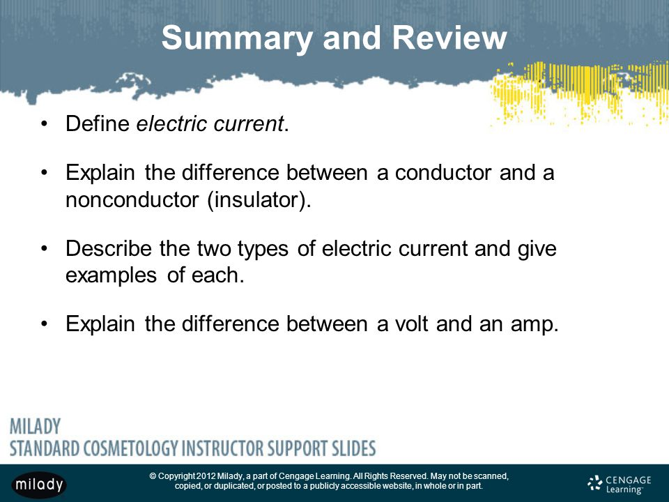 Summary and Review Define electric current.