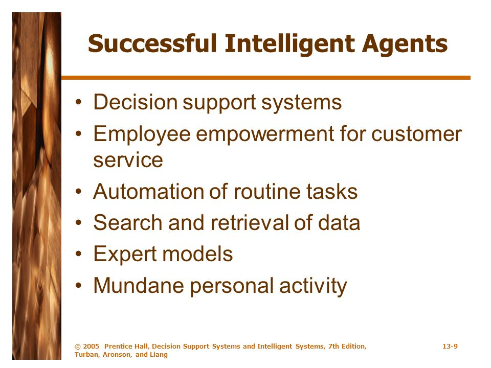 Successful Intelligent Agents