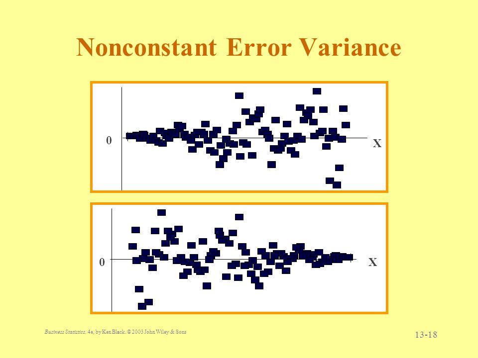 Nonconstant Error Variance