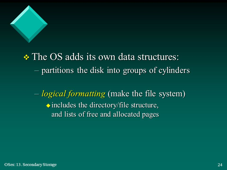 The OS adds its own data structures: