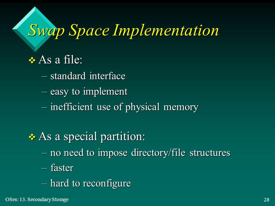 Swap Space Implementation