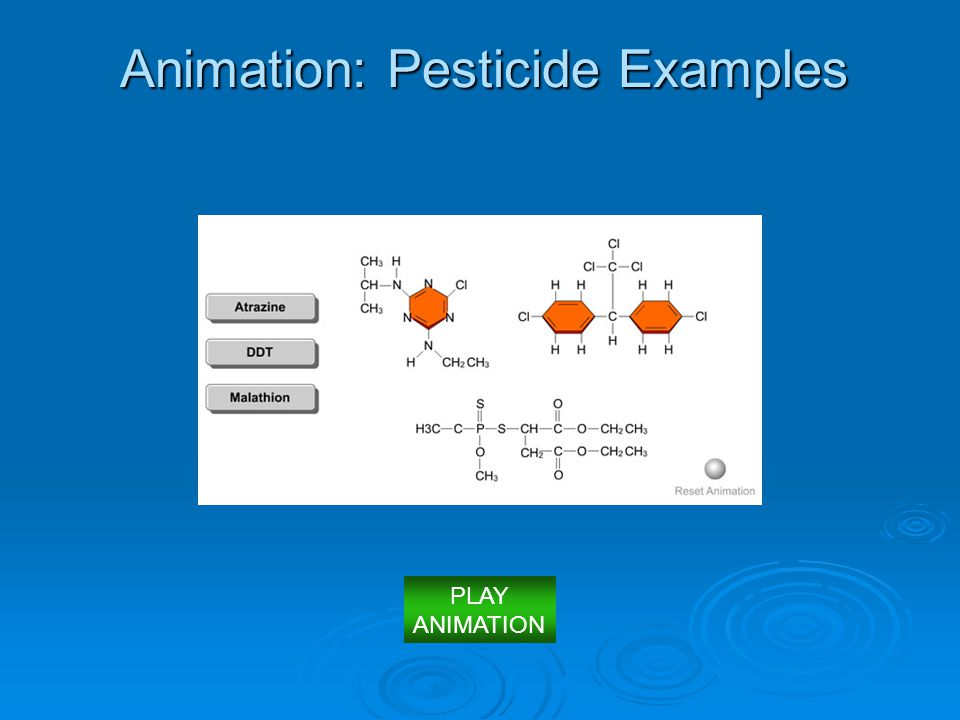 Animation: Pesticide Examples