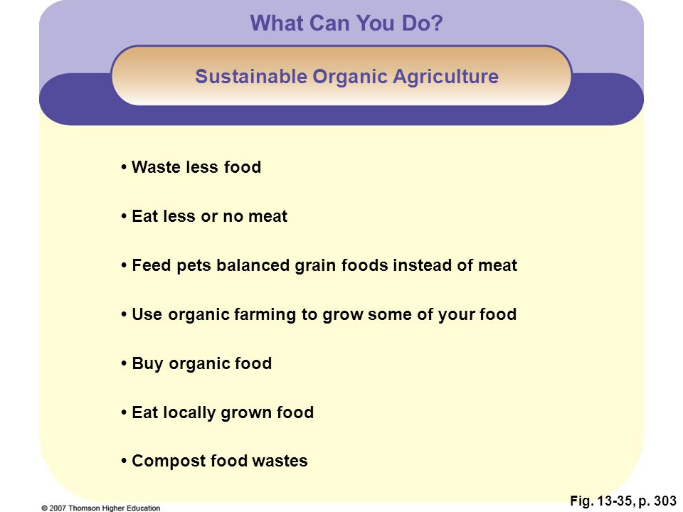 Sustainable Organic Agriculture