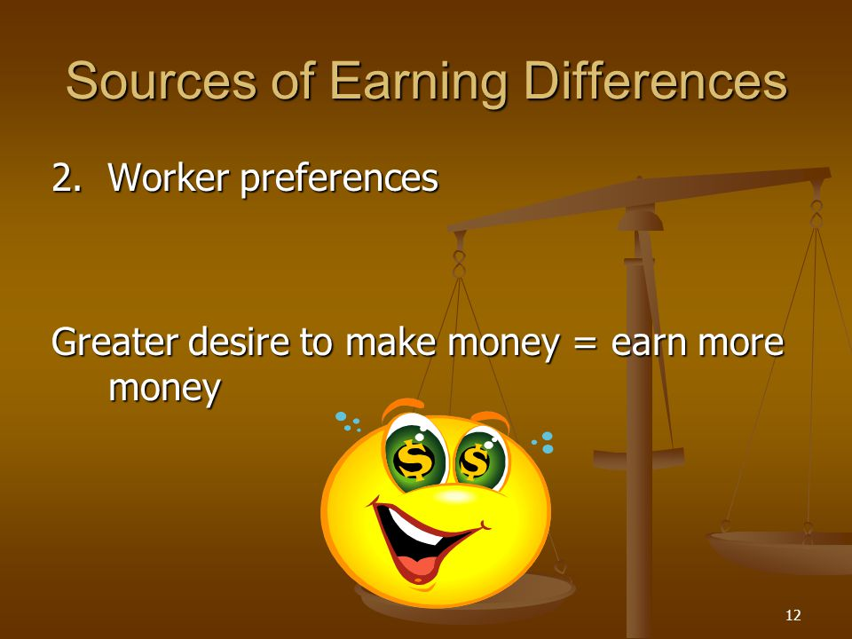 Sources of Earning Differences