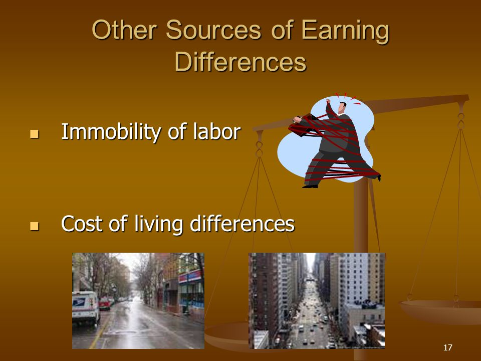 Other Sources of Earning Differences