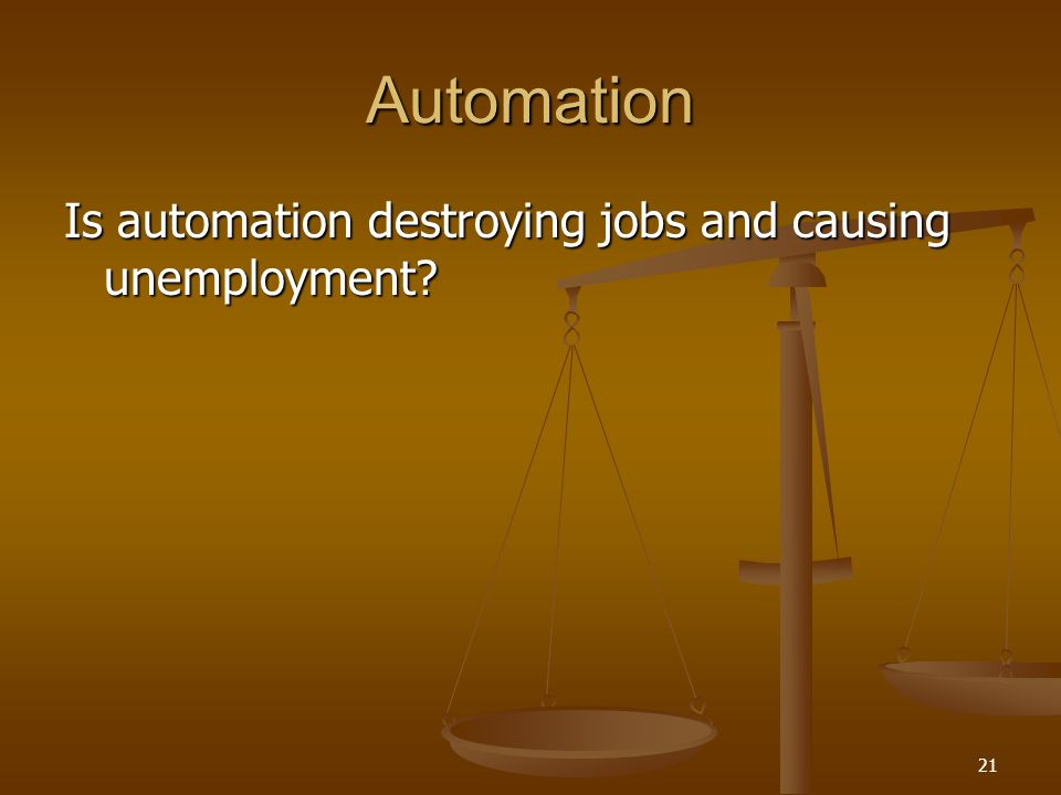 Automation Is automation destroying jobs and causing unemployment