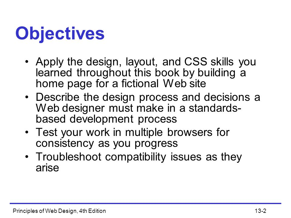 Objectives Apply the design, layout, and CSS skills you learned throughout this book by building a home page for a fictional Web site.