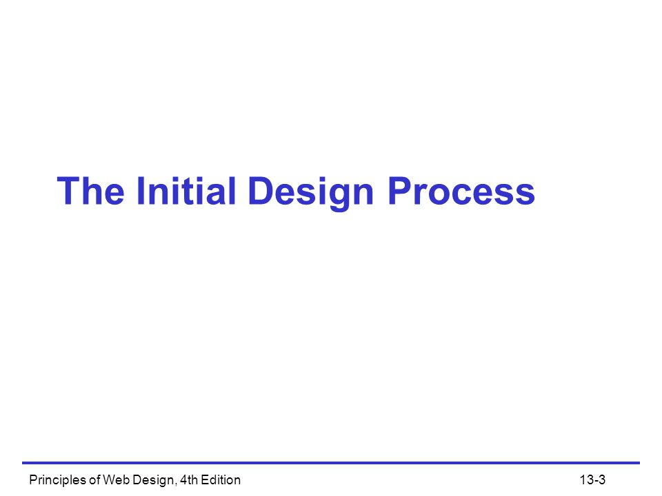 The Initial Design Process