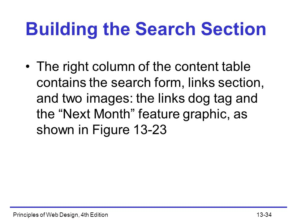 Building the Search Section