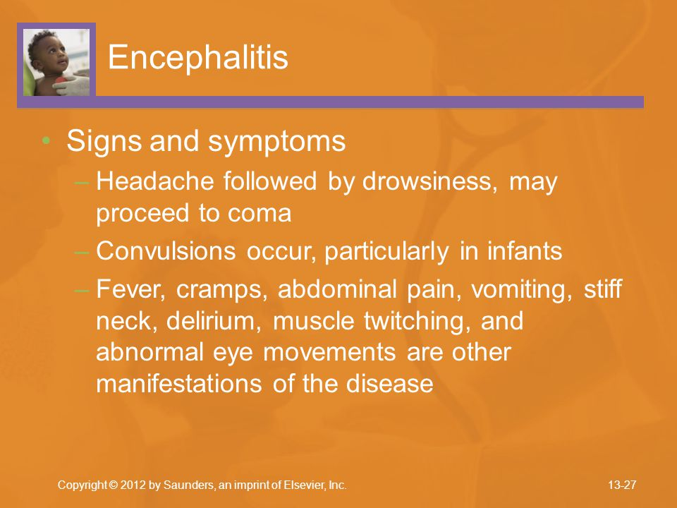 Encephalitis Signs and symptoms