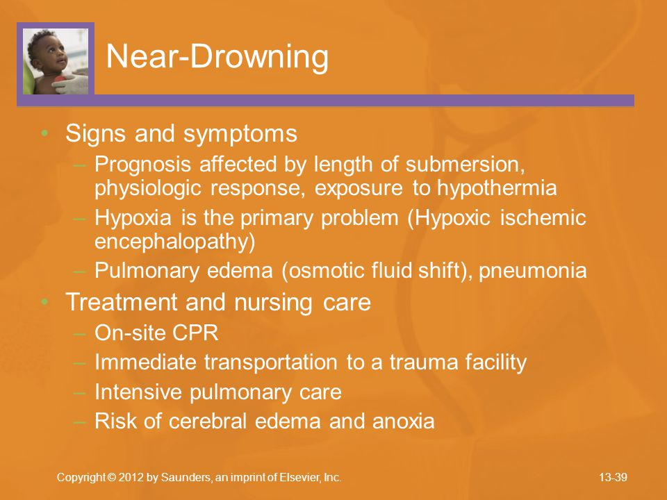Near-Drowning Signs and symptoms Treatment and nursing care