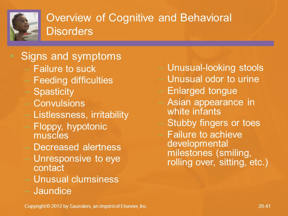 Overview of Cognitive and Behavioral Disorders