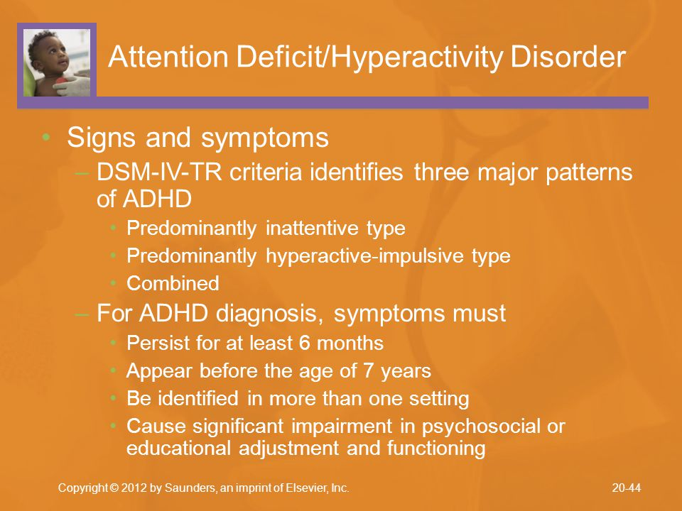 the two types of attention deficit disorder Hyperactive-impulsive attention deficit hyperactivity disorder (adhd) makes kids appear to be in constant motion their bodies and mouths are always going, as if driven by a motor.