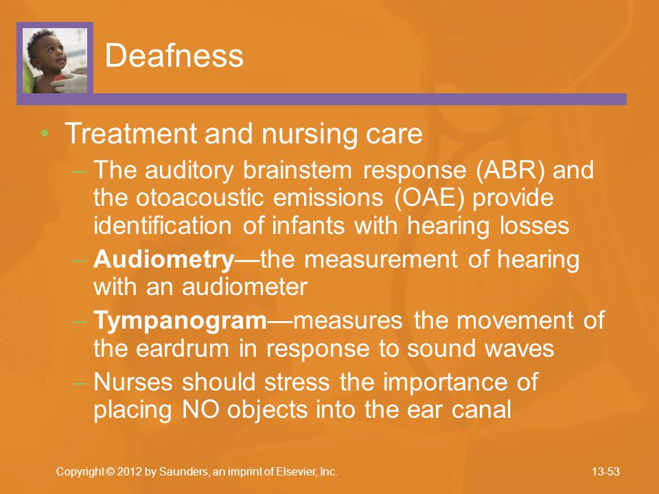 Deafness Treatment and nursing care