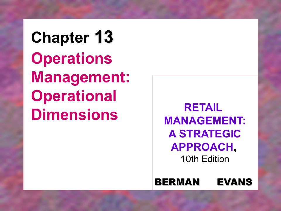 Operations Management: Operational Dimensions