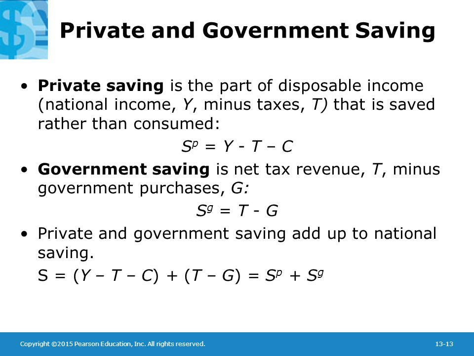 Private and Government Saving