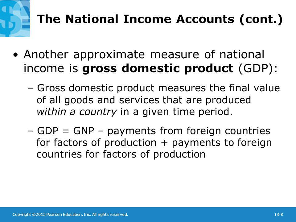 The National Income Accounts (cont.)