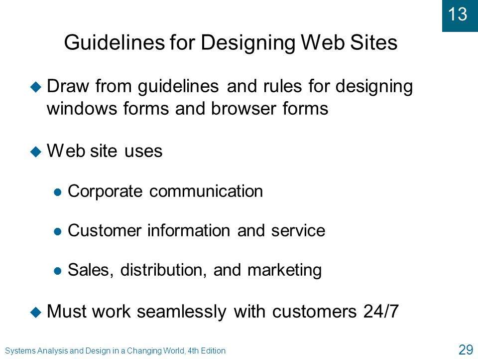 Guidelines for Designing Web Sites