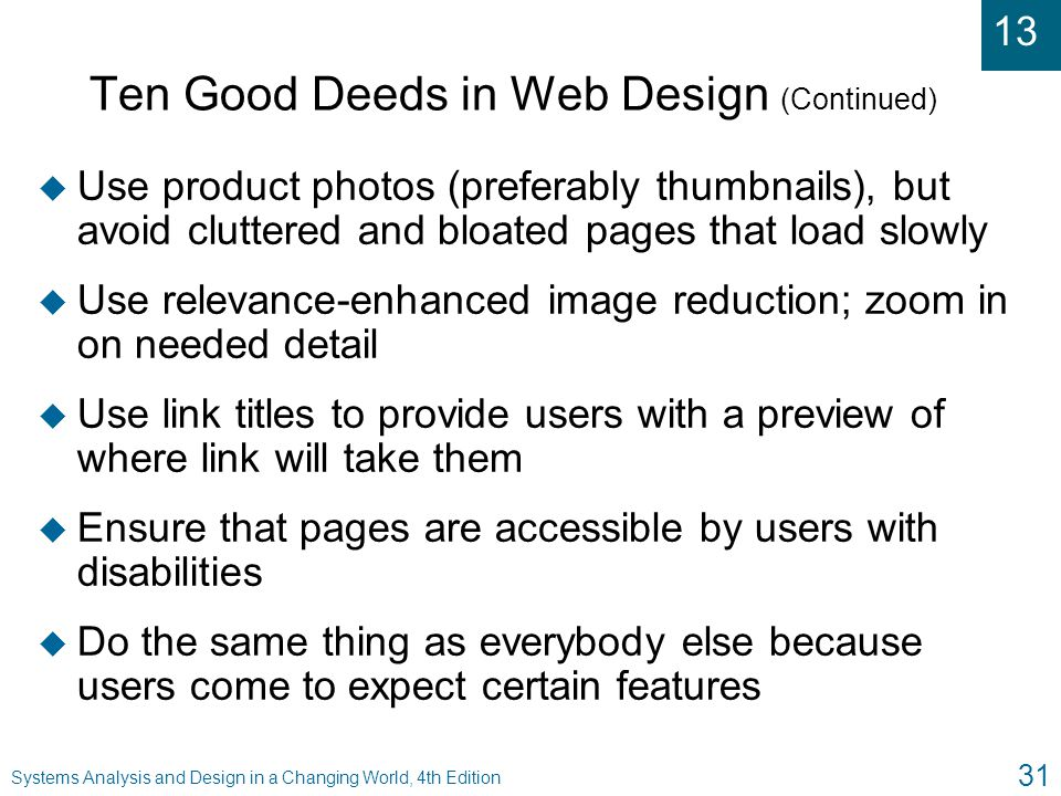 Ten Good Deeds in Web Design (Continued)