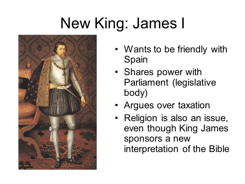 New King: James I Wants to be friendly with Spain