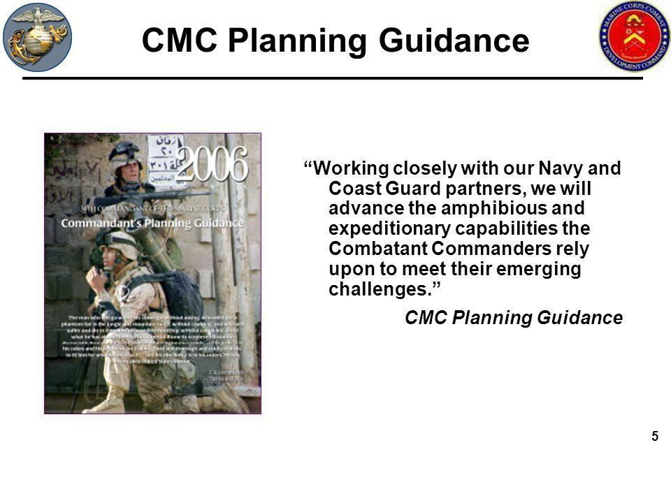CMC Planning Guidance