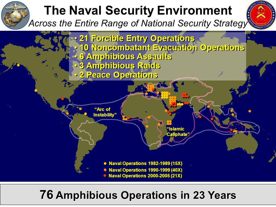 76 Amphibious Operations in 23 Years