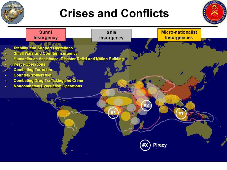 Crises and Conflicts Sunni Insurgency Shia Insurgency