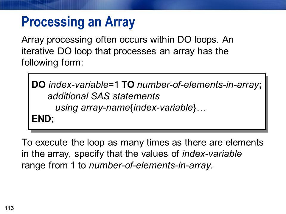 Processing an Array
