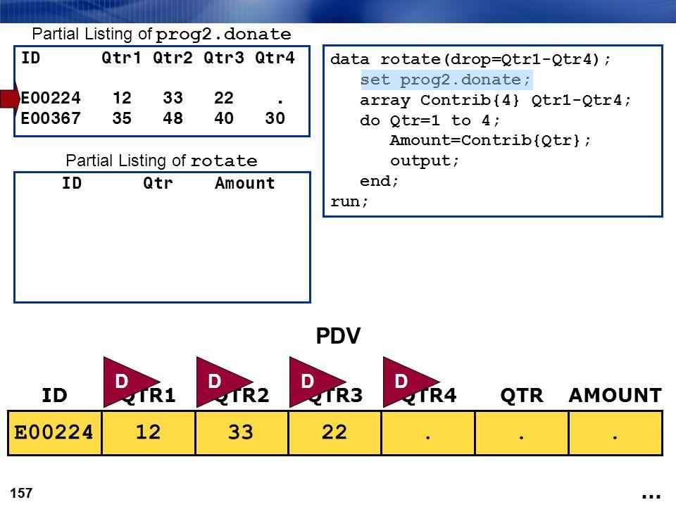 PDV E00224 12 33 22 . . . D D D D ID QTR1 QTR2 QTR3 QTR4 QTR AMOUNT