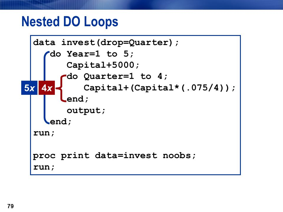 Nested DO Loops