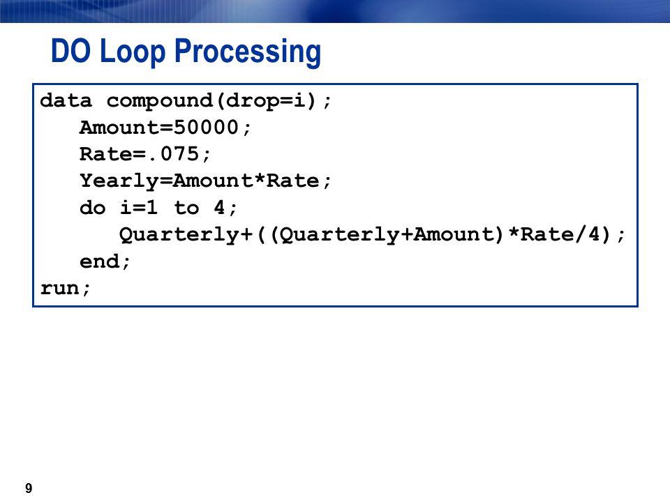 DO Loop Processing