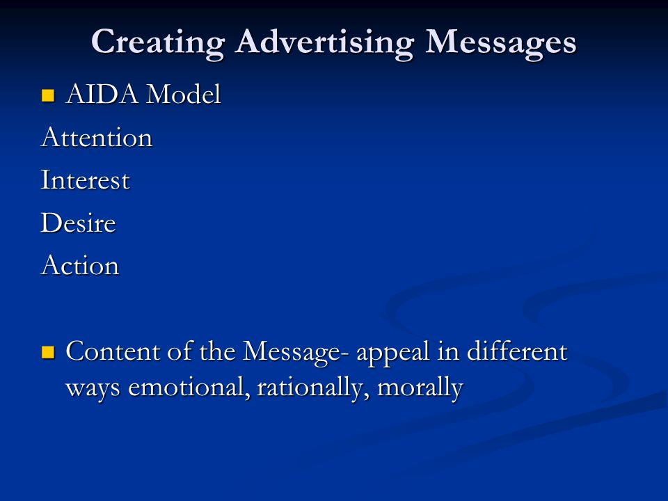 Creating Advertising Messages