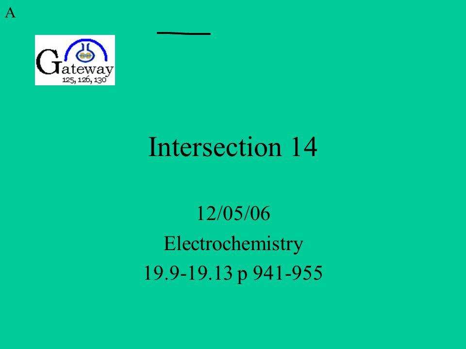 12/05/06 Electrochemistry 19.9-19.13 p 941-955