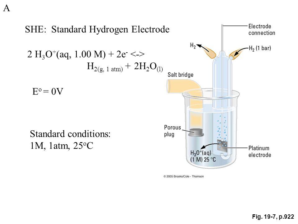 SHE: Standard Hydrogen Electrode