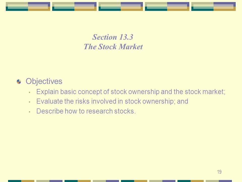 Section 13.3 The Stock Market