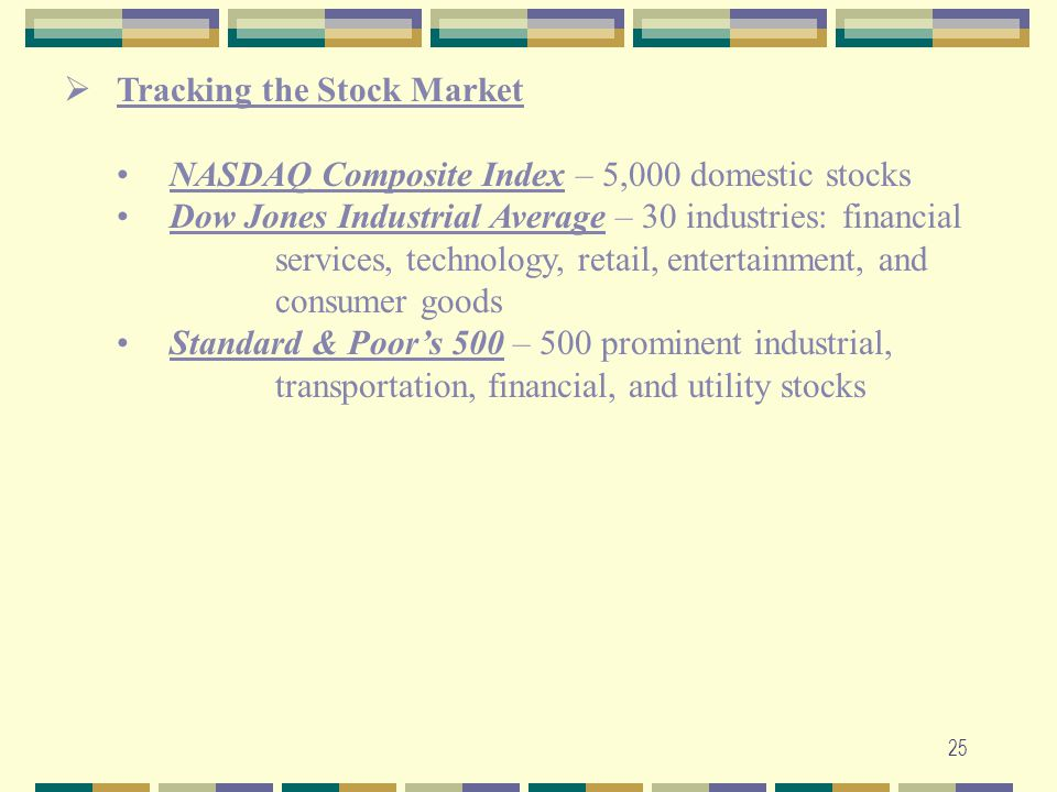 Tracking the Stock Market